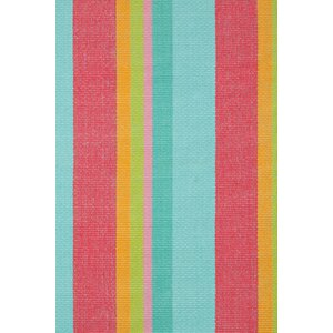 Hand Woven Pink/Blue Area Rug