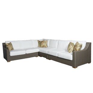 Bayou Breeze Hobson Patio Sectional with Sunbrella Cushions
