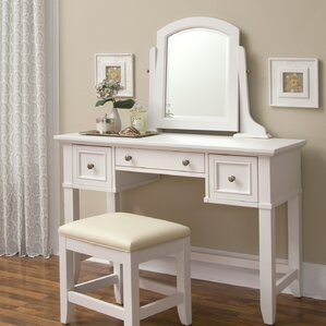 Lafferty Vanity with MirrorMakeup Tables and Vanities You ll Love   Wayfair. Vanity And Desk Combo. Home Design Ideas