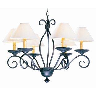 2nd Ave Design Sienna 6-Light Shaded Chandelier