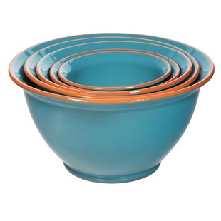 5 Piece Terracotta Mixing Bowl Set