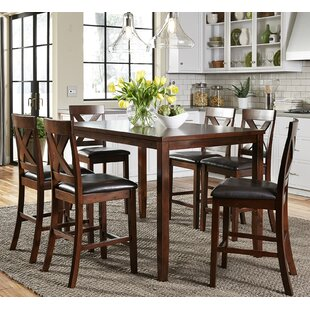 Reviews Nadine 7 Piece Pub Table Set by Darby Home Co