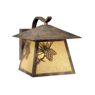 Loon Peak Josefina 1-Light Glass Shaded Outdoor Wall Lantern
