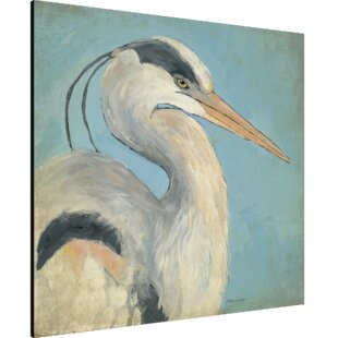 Coastal Blue Heron Painting Print On Wrapped Canvas