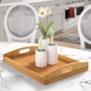 Traditional Rectangular Wood Serving Tray