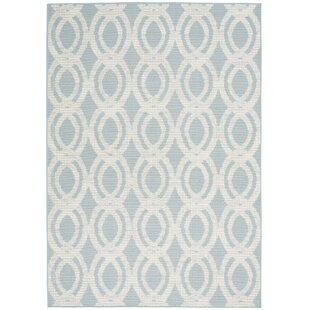 Lawanda Trellis Light Blue Indoor/Outdoor Area Rug