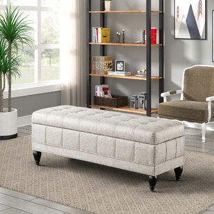 Ruddell Upholstered Flip Top Storage Bench by Alcott Hill