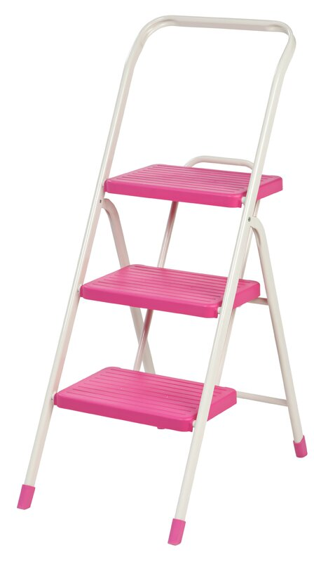3-Step Folding Step Stool with 225 lb. Load Capacity  sc 1 st  Wayfair & IRIS 3-Step Folding Step Stool with 225 lb. Load Capacity ... islam-shia.org