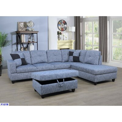 Terrific Andover Mills Russ Sectional With Ottoman Upholstery Light Alphanode Cool Chair Designs And Ideas Alphanodeonline