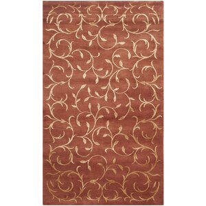 Osbourne Hand-Knotted Rust/Gold Area Rug