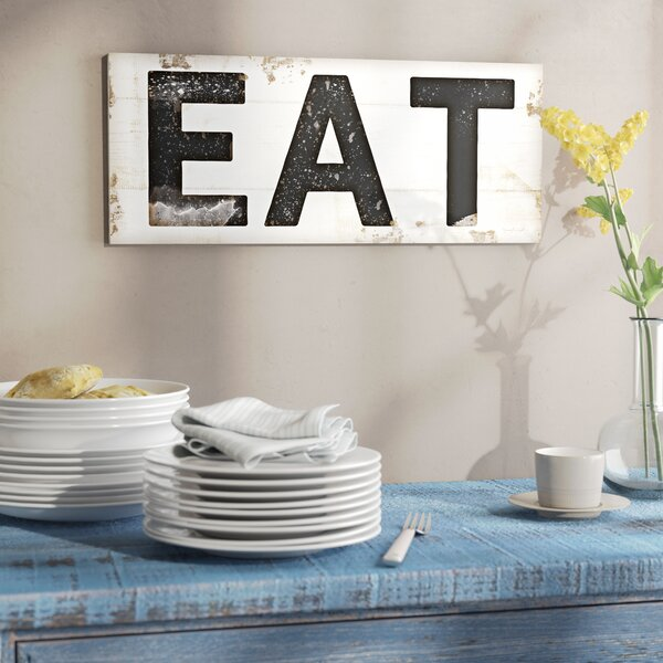 'EAT Typography Vintage Sign' Wall Art - Typography Wall Art