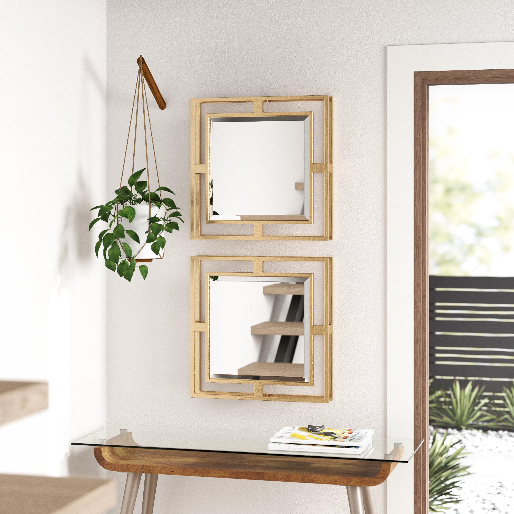 Allmodern Amelio Piece Traditional Beveled Mirror Set Reviews Wayfair