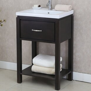 Find a 24 Single Bathroom Vanity Set with Open Shelf By InFurniture