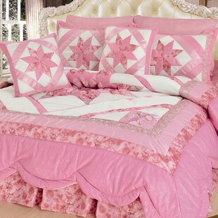 New Girly Girl 5 Piece Quilt Set. By DaDa Bedding