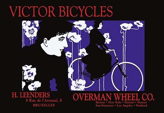 Buyenlarge Victor Bicycles Overman Wheel Company By William H Bradley Vintage Advertisement Wayfair