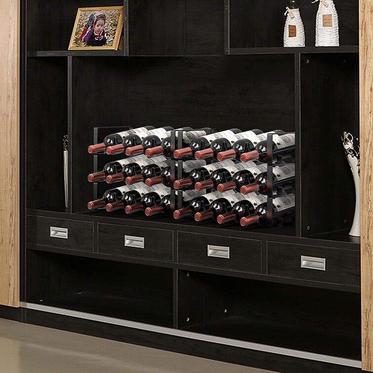 Prep Savour 3 Tier Stackable Wine Rack Freestanding Floor Wine Racks Countertop For Kitchen Pantry Cabinet Wine Cellar Bottle Holder Storage Hold 12 Bottles Metal Wayfair