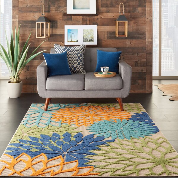 Blue And Orange Rug Wayfair