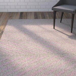 Loya Hand-Woven Pink/Gray Indoor Area Rug