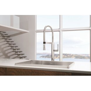 Blanco Culina Pull Out Single Handle Kitchen Faucet with Magnetic Docking