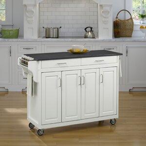 Regiene Kitchen Cart with Quartz Top