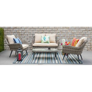 Carlile 4 Piece Sofa Set with Cushions