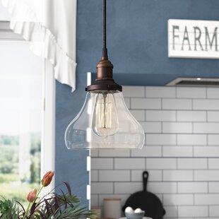Laurel Foundry Modern Farmhouse Sandy Springs 1-Light Teardrop Pendant