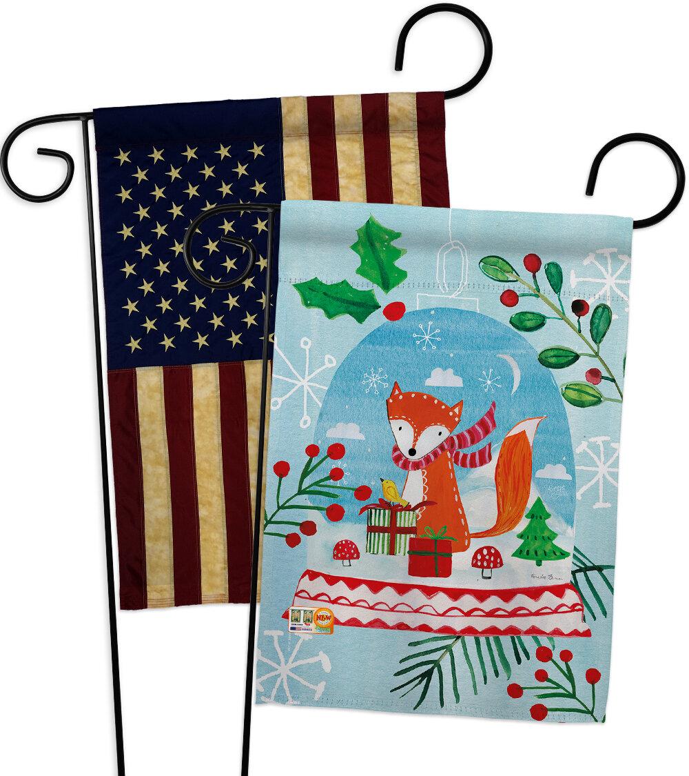 Breeze Decor 2 Piece Snow Globe Fox Impressions Decorative 2 Sided Polyester 19 X 13 Garden Flag Set Wayfair