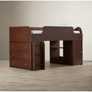 Amak Panel Twin Loft Bed with Drawers and Bookcase and Ladder and Toy Box by Mack & Milo