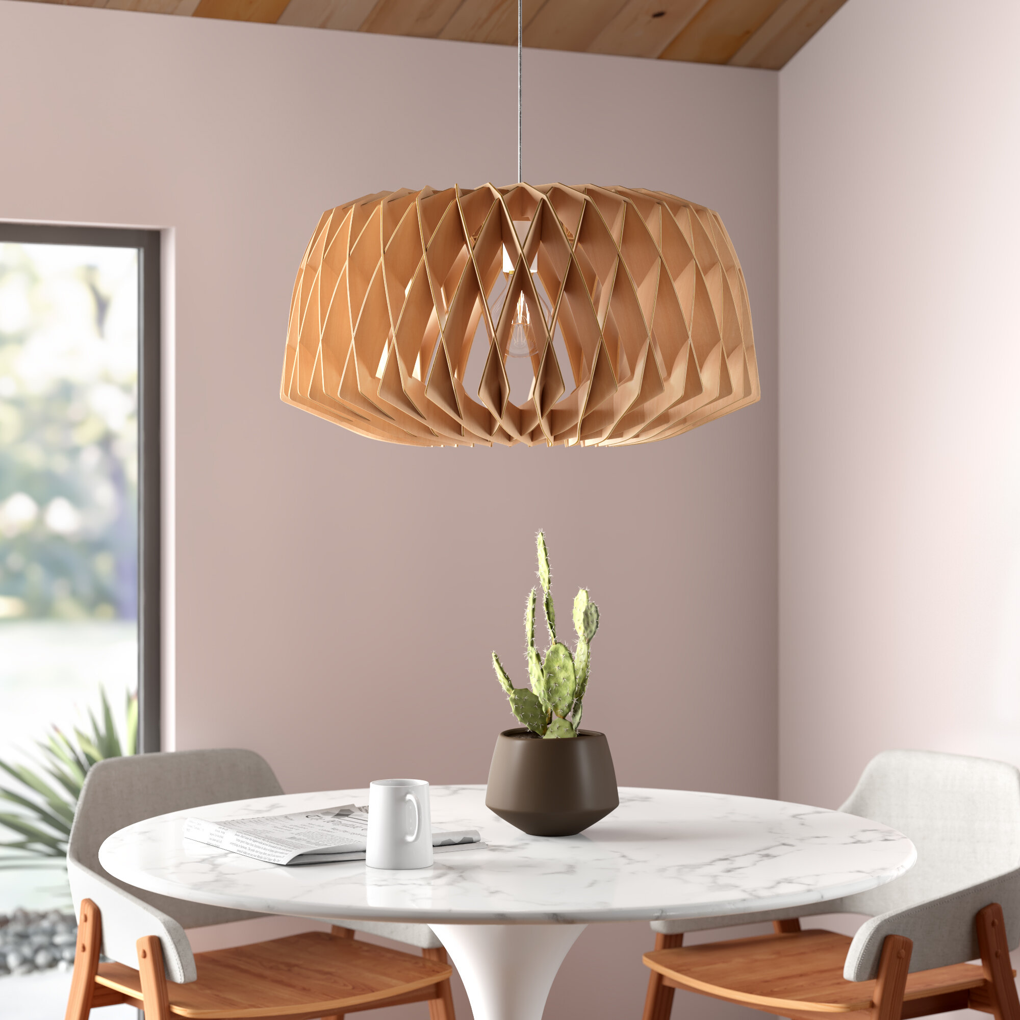 Beatty 1 Light Single Geometric Pendant Reviews Allmodern
