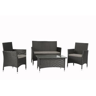 Wen 4 Piece Sofa Set with Cushions