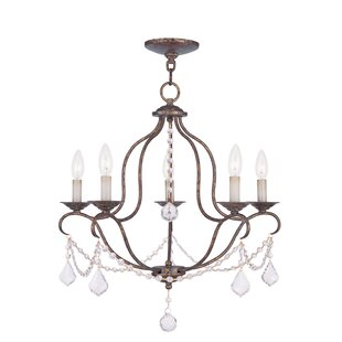 One Allium Way Hance 5-Light Candle-Style Chandelier