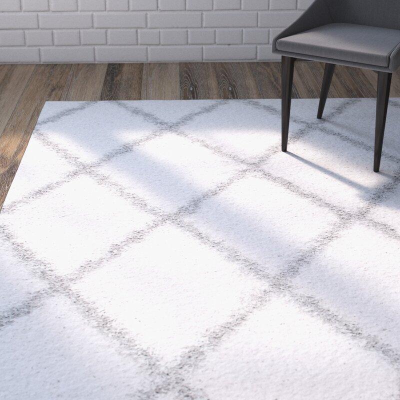 default_name - Mercury Row Colona Off-White/White Area Rug & Reviews Wayfair