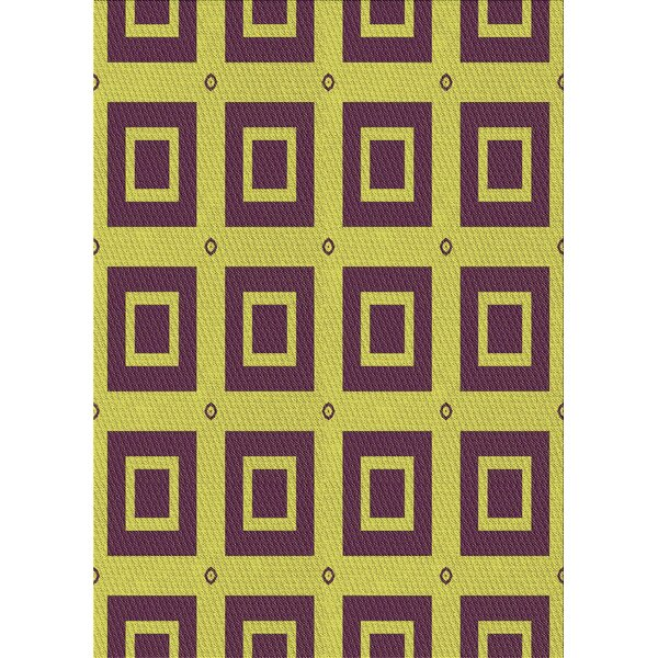 East Urban Home Geometric Wool Brown Yellow Area Rug Wayfair