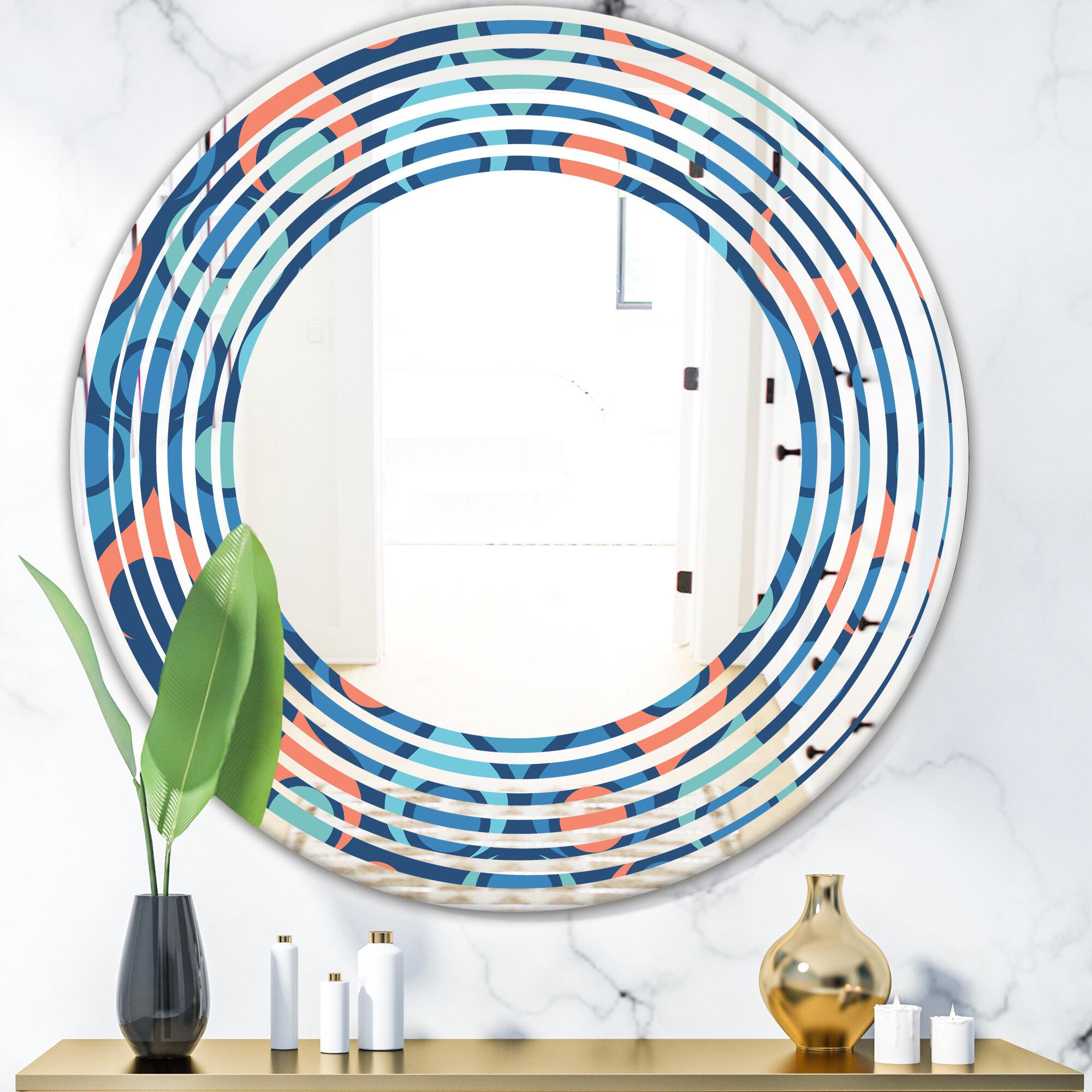 East Urban Home Abstract Drops X Wave Modern Contemporary Frameless Wall Mirror Wayfair