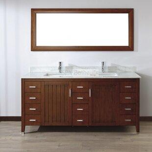 Jacchi 72 Double Bathroom Vanity Set with Mirror By Bauhaus Bath