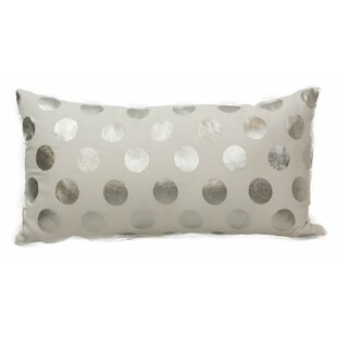 Emma and Violet Foil Dots Lumbar Pillow
