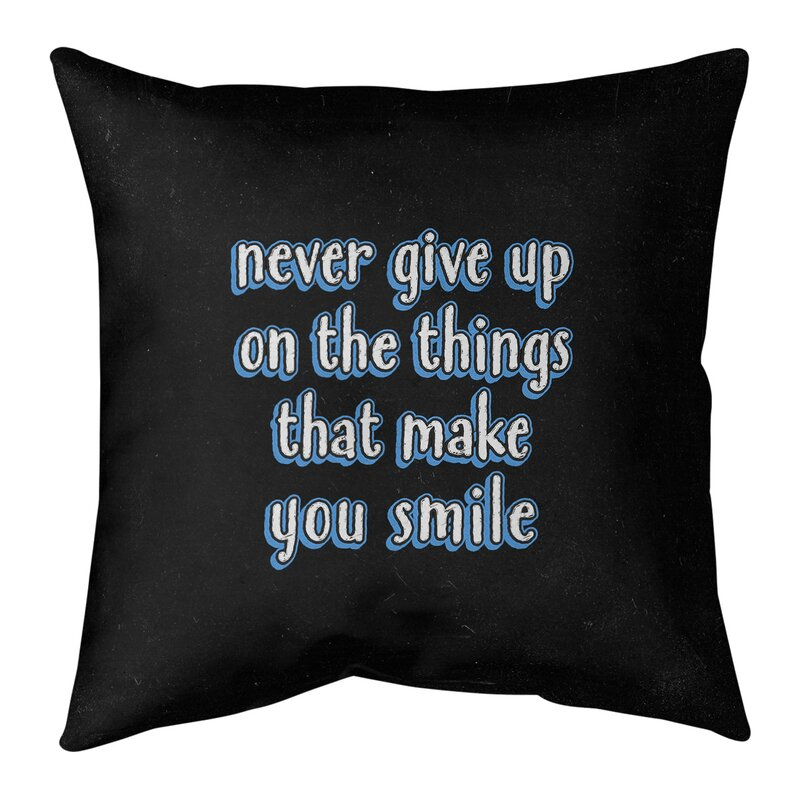 East Urban Home Joy Perseverance Quote Chalkboard Style Pillow Cover No Fill Cotton Twill Wayfair