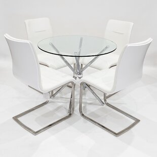Tamworth Dining Set With 4 Chairs By Wade Logan