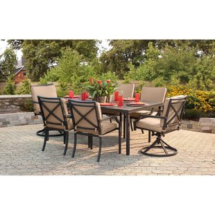 Red Barrel Studio Ellett 7 Piece Dining Set with Cushions