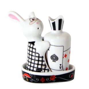 3 Piece Bunny Salt and Radish Pepper with Tray Set By Topchoice