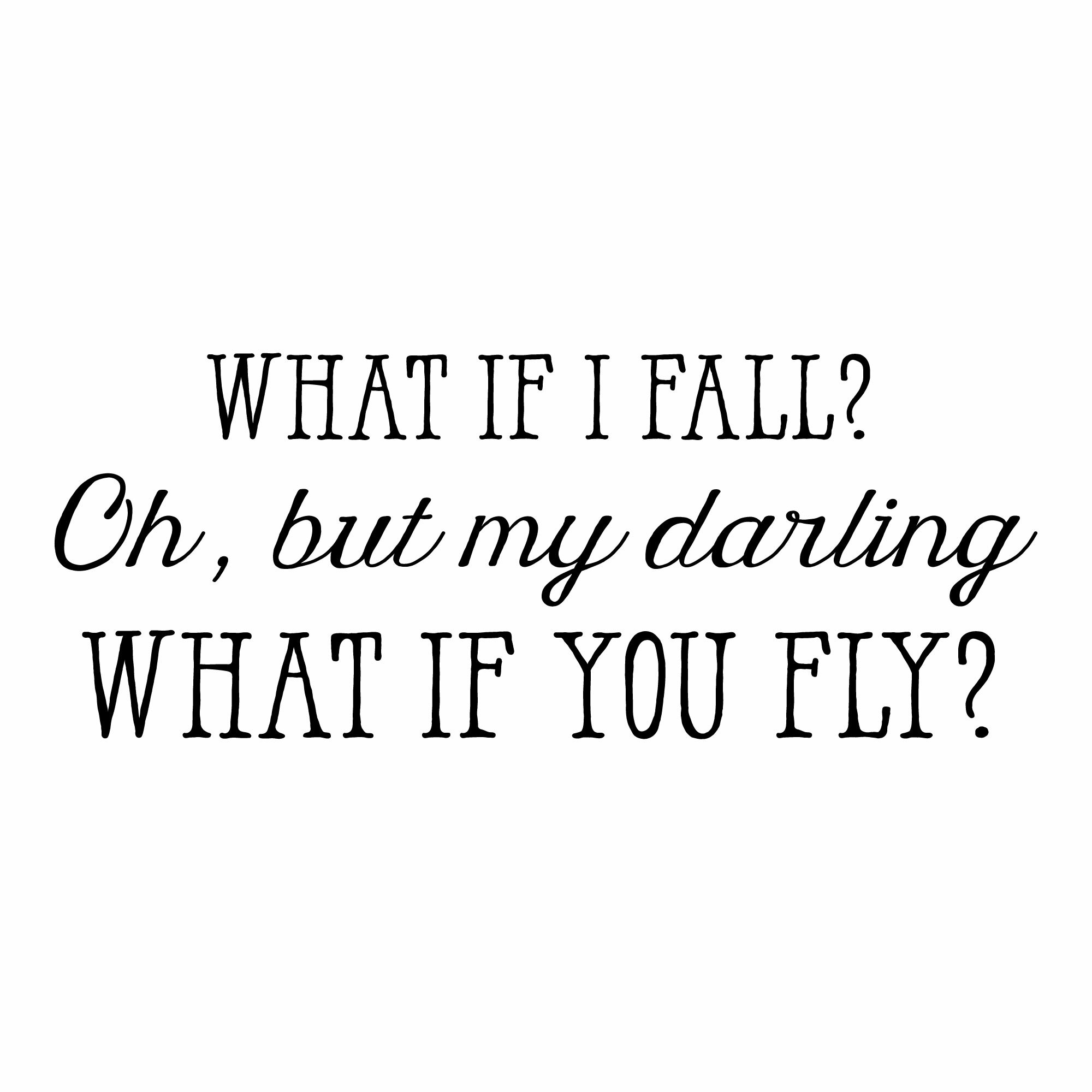Belvedere Designs Llc What If I Fall Wall Quotes Decal Reviews