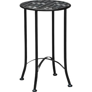 Saundra 16-inch Iron Patio Side Table by Fleur De Lis Living #2