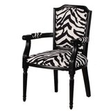 Chaudeville Zebra Upholstered Arm Chair by World Menagerie