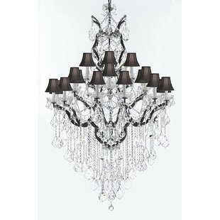 Rosdorf Park Borunda Iron 25-Light Shaded Chandelier