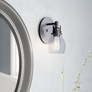 Wilhelm 1-Light Bath Sconce by Breakwater Bay