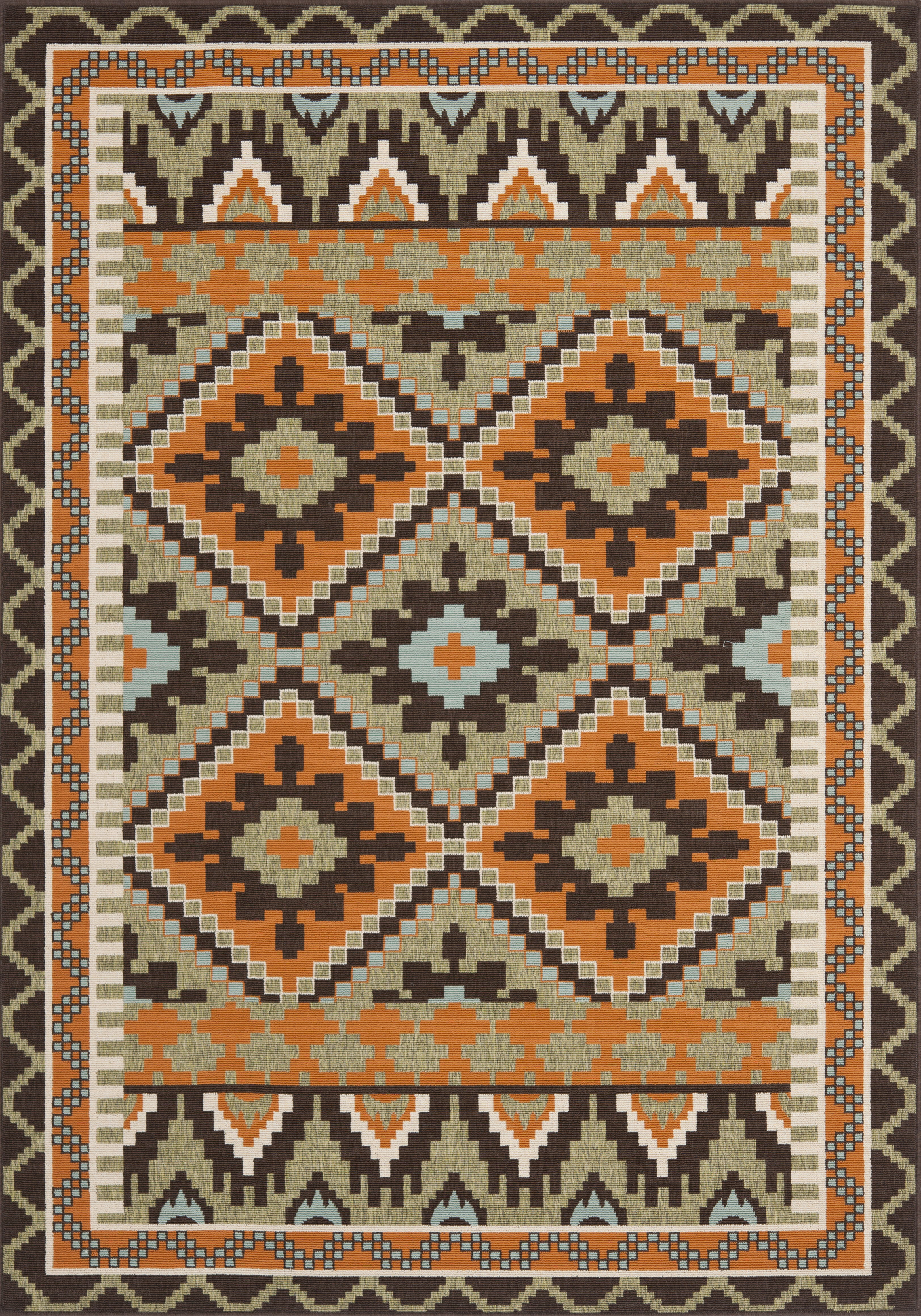 Bloomsbury Market Mcneil Orange Beige Brown Indoor Outdoor Rug Reviews Wayfair Co Uk