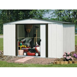 Newburgh 10 ft. 3 in. W x 7 ft. 11 in. D Metal Storage Shed