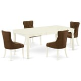 Chane 5 Piece Extendable Solid Wood Dining Set by Winston Porter