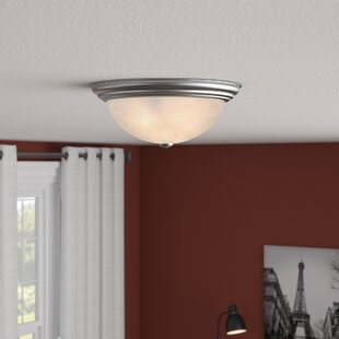 Best Price Bourdeau 2-Light Flush Mount By Andover Mills