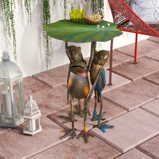 Fabron 3 Frogs Standing Side Table by Bloomsbury Market Amazing